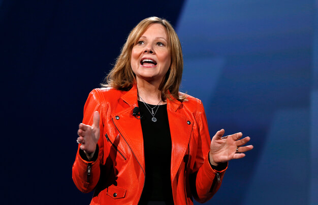 In a Wednesday, June 24, 2015 file photo, Mary Barra, General Motors chief executive officer, introduces the 2016 Chevrolet Cruze in Detroit. General Motors directors announced Monday, Jan. 4, 2016, that Barra is taking on the added role of chairman at GM. Shw will replace former Cummis Diesel Chairman and CEO Theodore Solso, who will stay on as the board's lead independent director, the company said Monday in a statement.  (AP Photo/Paul Sancya, File)