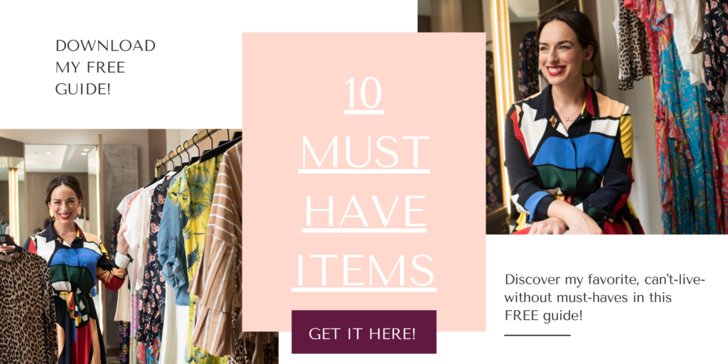 Download my FREE shoppable guide