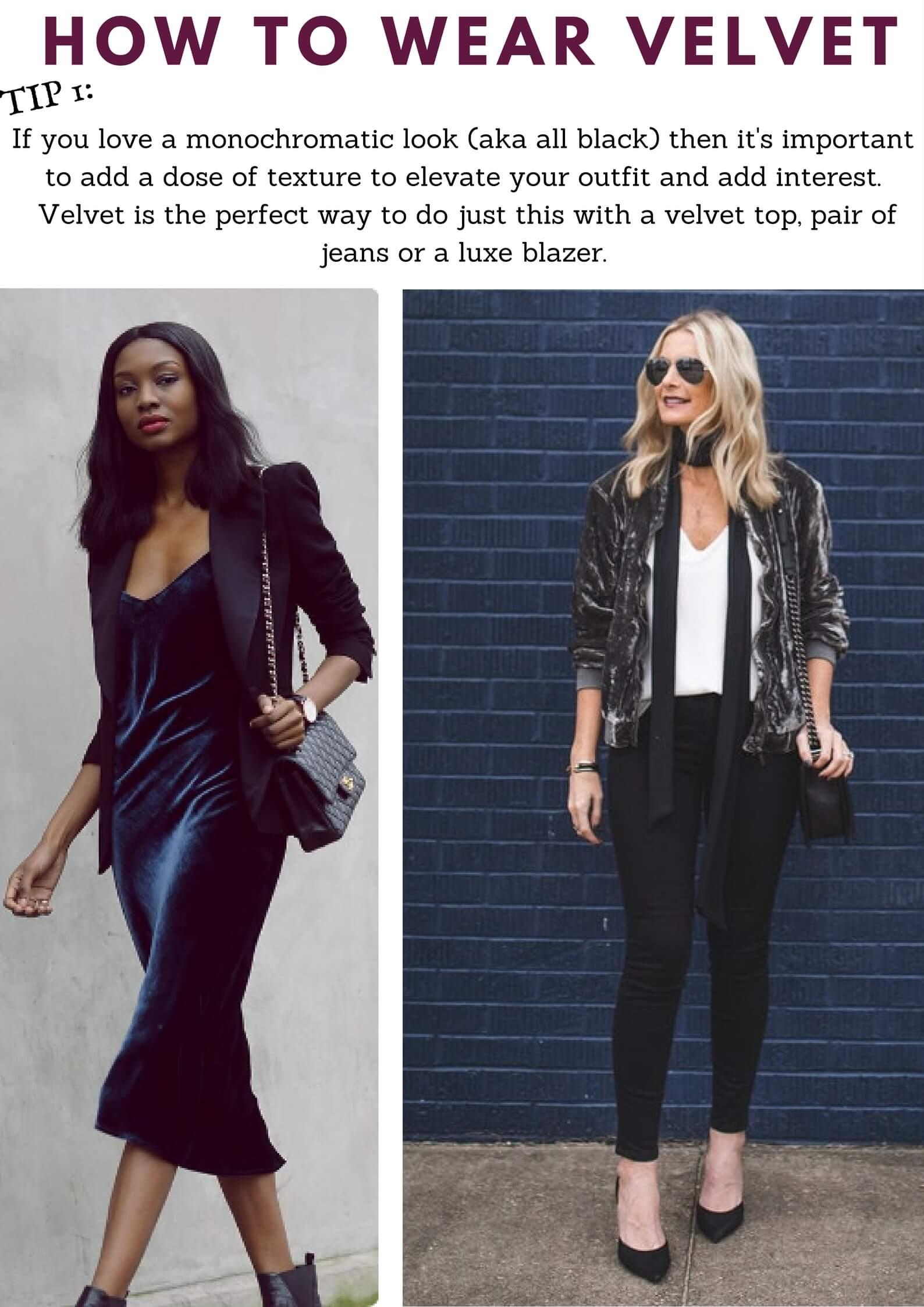 Velvet Outfit Ideas How To Wear Velvet The Right Way Style With Velvet