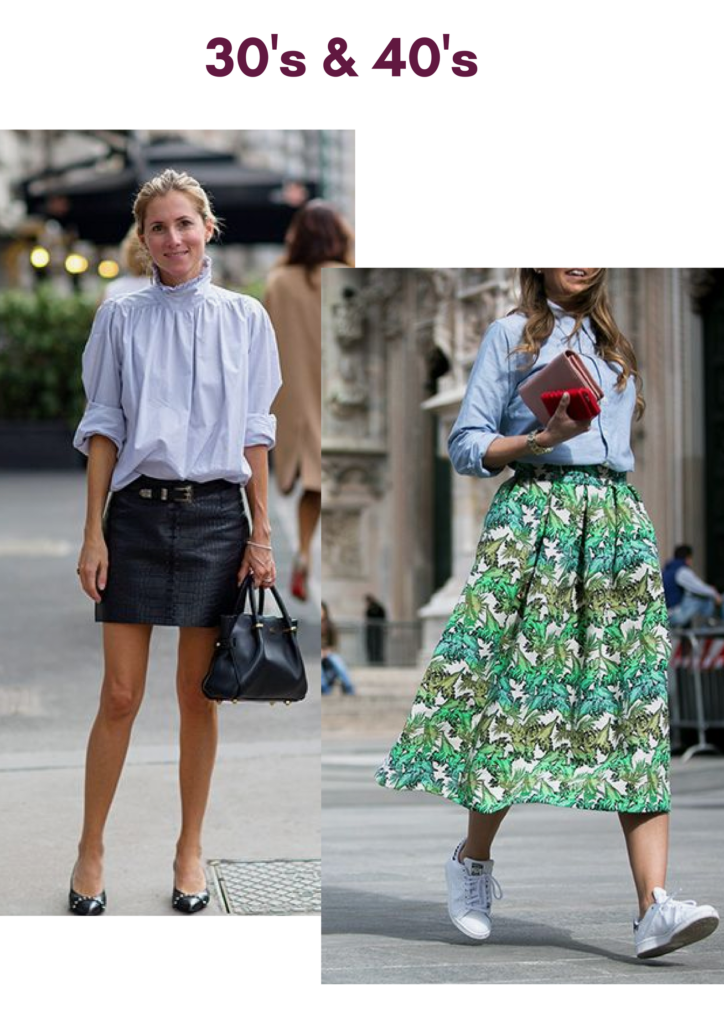 skirt style for women between 30 to 40's