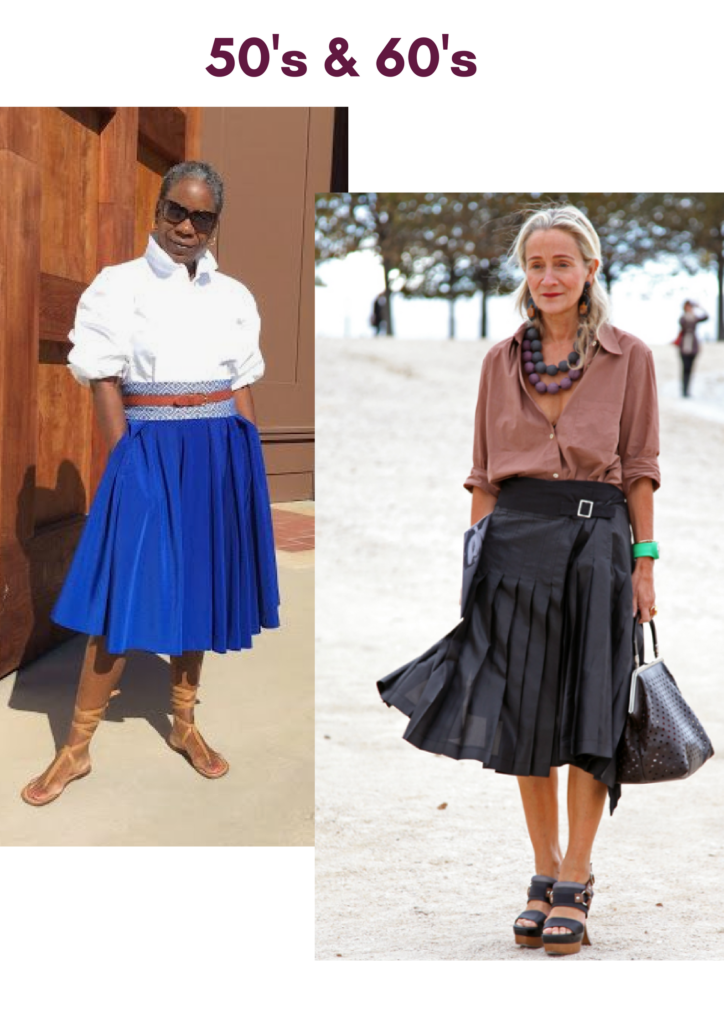 Skirt Styles for women between 50 to 60