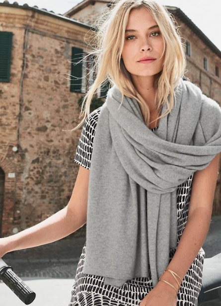 travel wear: cashmere wrap