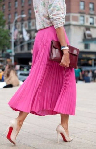 Burgundy and Fuchsia Dress