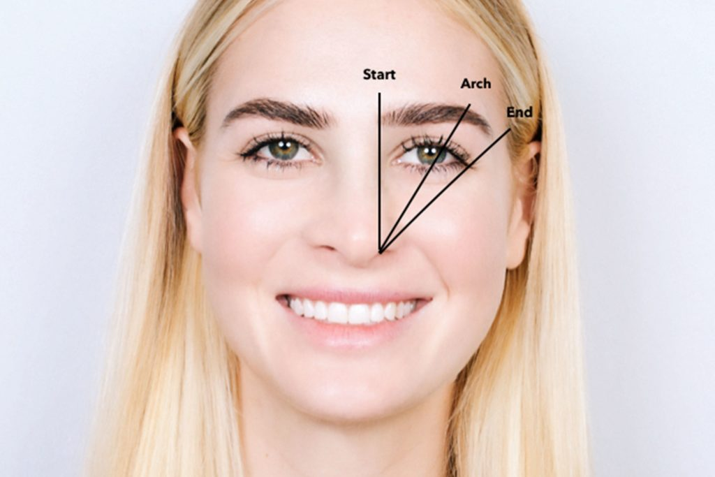 properly shaped brows