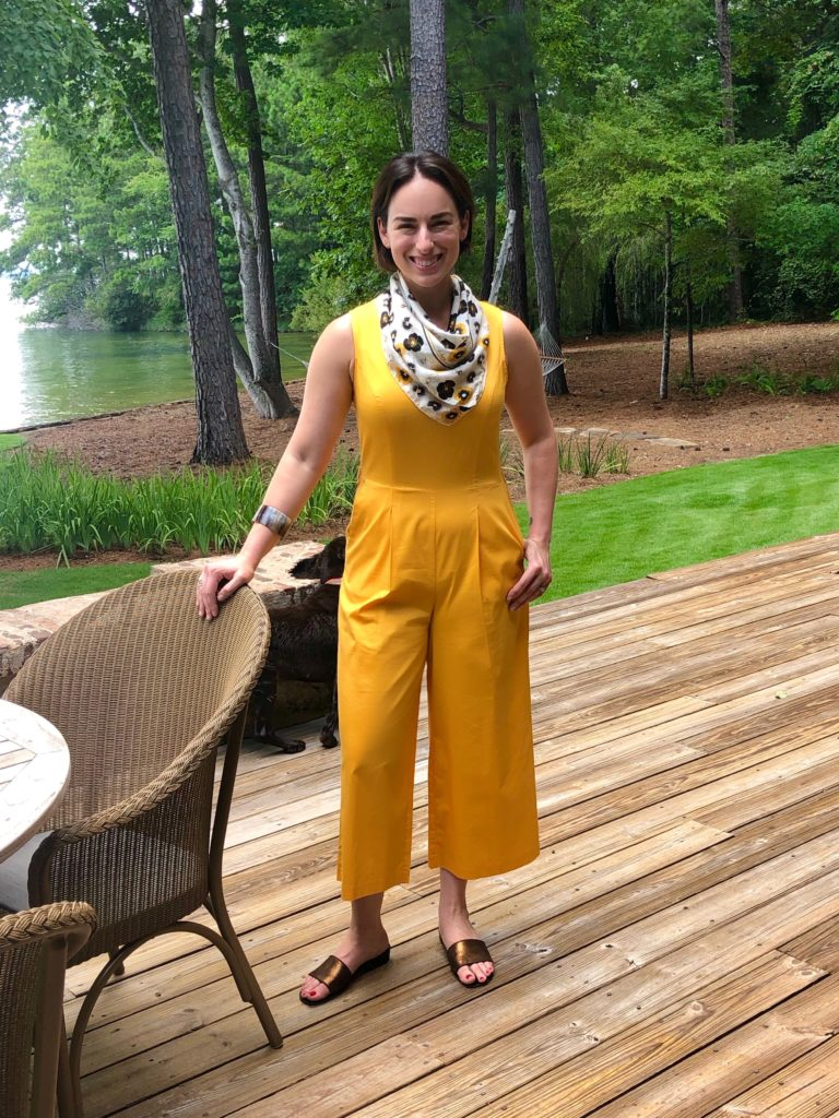 Casual Look with Silk Scarf