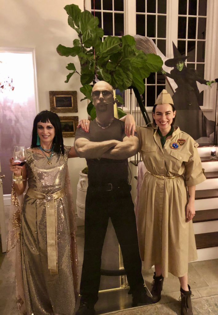 Megan and I enjoying this year's Halloween costume bash