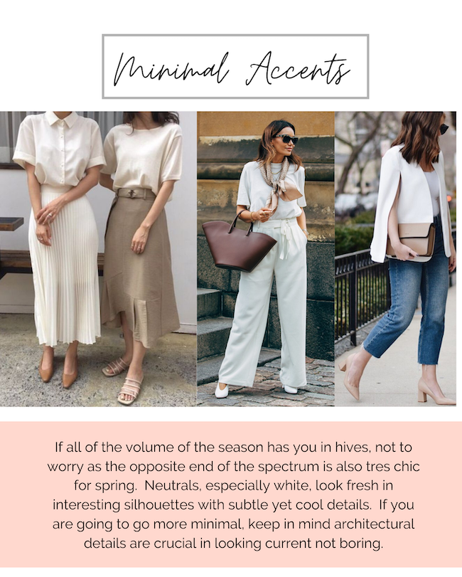 minimal accents 2020 spring fashion
