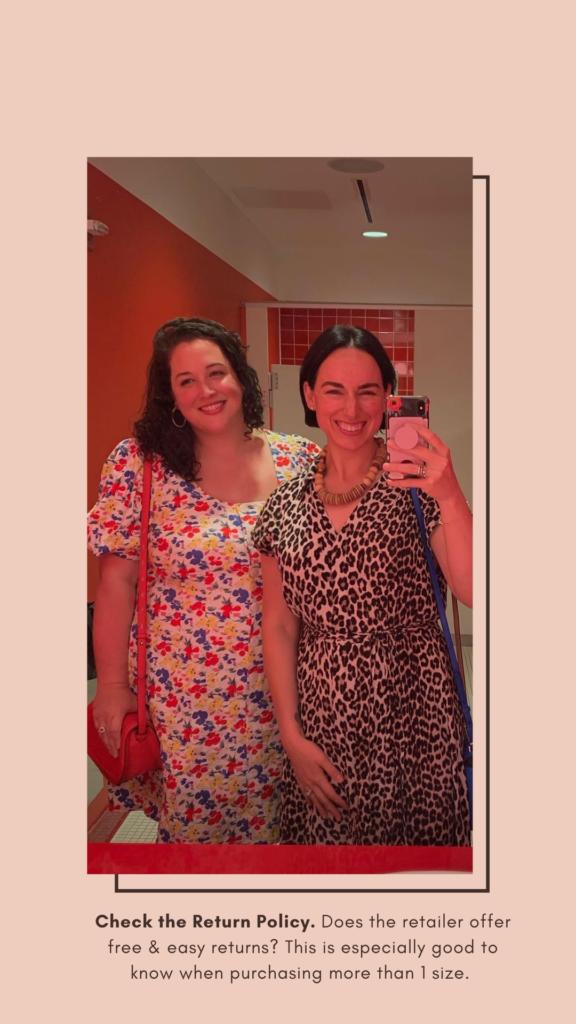 Left Dress: Target, Right: H&M